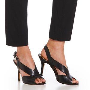 "Michael Kors ""Becky"" peep toe sling back heel."